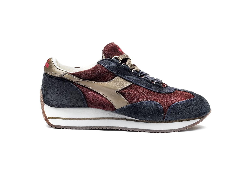 Diadora Heritage - Sneakers Equipe W S. Sw HH para Mujer EU 36 - US 4 - UK 3.5 (cm 22) C5628 - Viedo de Vino-gris de Nuez