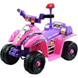 Lil' Rider Ride On Toy Quad, Battery Powered Ride On Toy ATV Four Wheeler With Princess Theme by Toys for Boys and Girls 2 - 4 Year Olds (Pink)