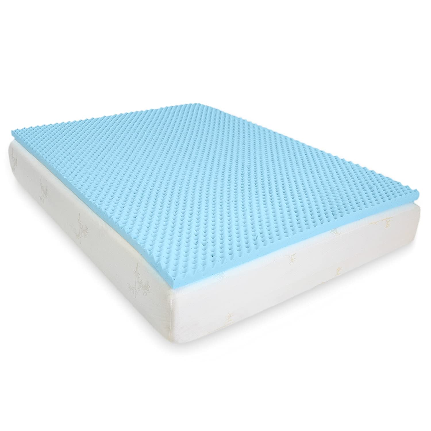 Egg Crate Gel Memory Foam Mattress Topper - Twin, Mattress Pad Provides  Great Pressure Relief, Gel Infusion Contributes to a Cooler Night Sleep  (Twin): ... - Amazon.com: Milliard 2in. Egg Crate Gel Memory Foam Mattress