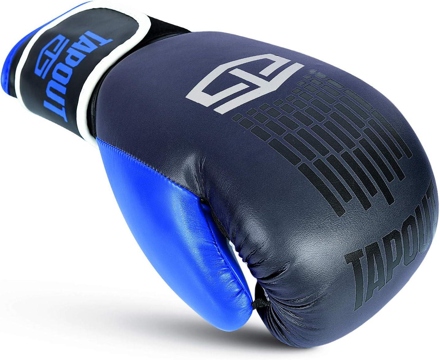 16oz **FREE HAND WRAPS** TapouT Dynamo Boxing Gloves Dura Hide Leather Kids /& Adults Sizes 4oz