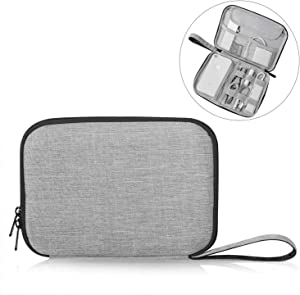 "Patu Portable 8 Inch Tablet Sleeve Accessories Case, Home Travel Organizer for iPad Mini 4 3 2, Tablets Up to 8"", E-Readers, Hard Drives, Power Banks, Adapters, Cables, Memory Cards, Gray"