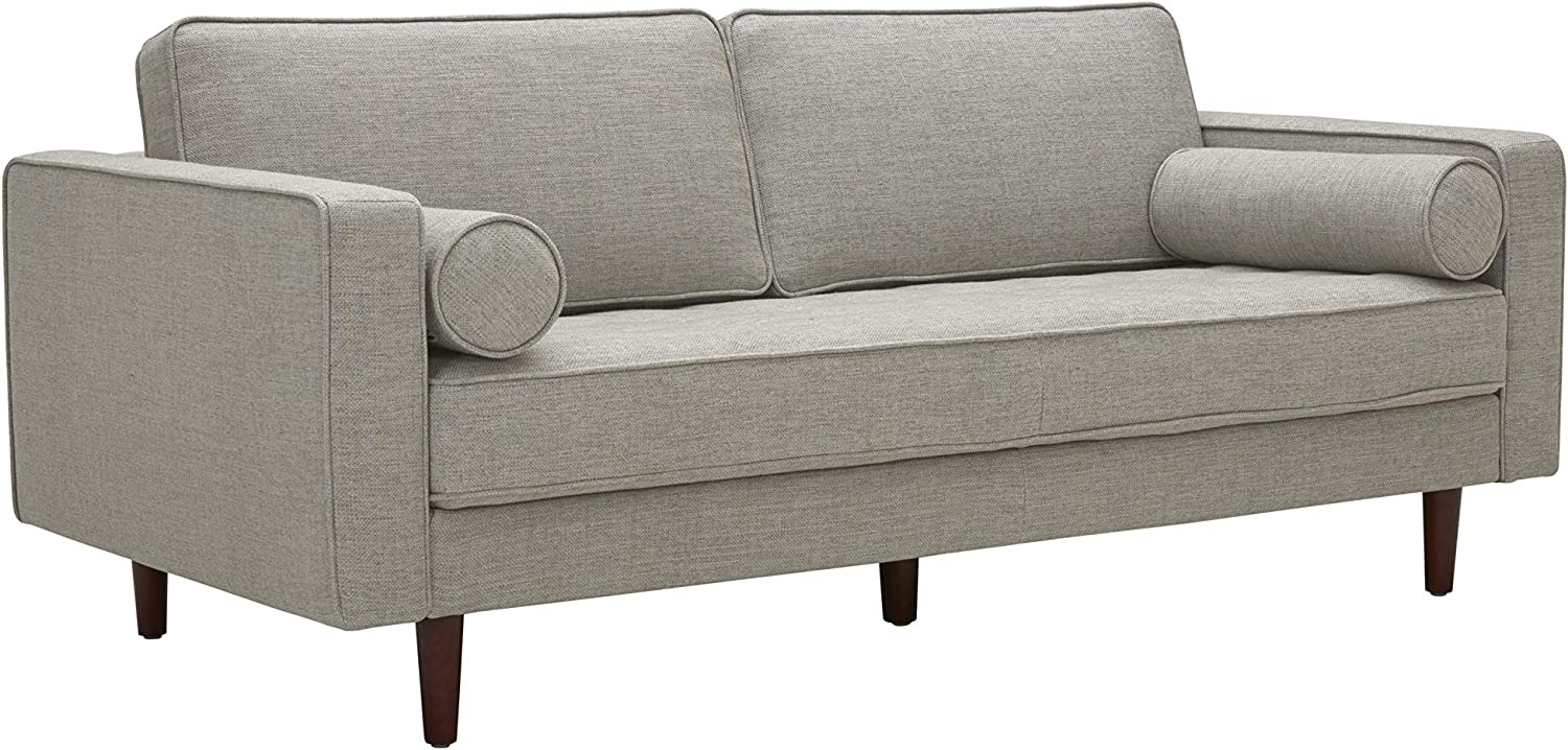 Amazon Brand – Rivet Aiden Mid-Century Sofa with Tapered Wood Legs, 74
