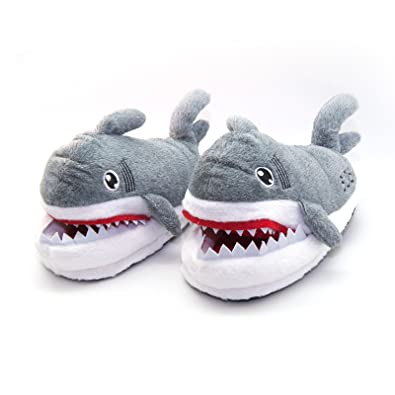 8df0880d4458 Image Unavailable. Image not available for. Color  Shark Slippers Non-Slip  Indoor Home Warm Comfy Cute Winter Soft Cozy Plush ...