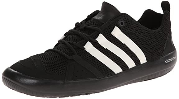 adidas outdoor Men's Climacool Boat Lace-M, Black/Chalk White/Silver Metallic, 12 M US