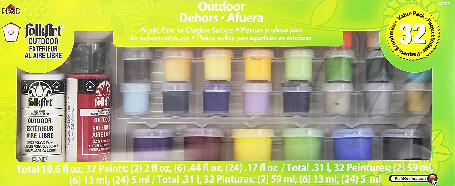 5c63602483 Amazon.com  FolkArt Outdoor Acrylic Paint Set