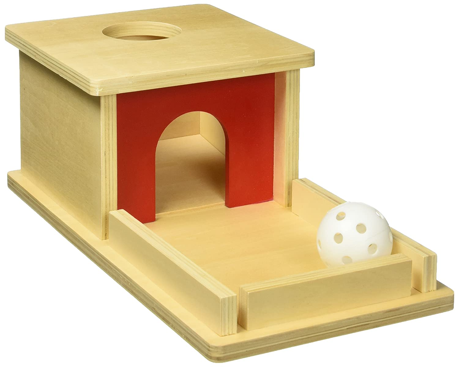 Montessori Object Permanence Box with Tray and Ball D & D Distributor