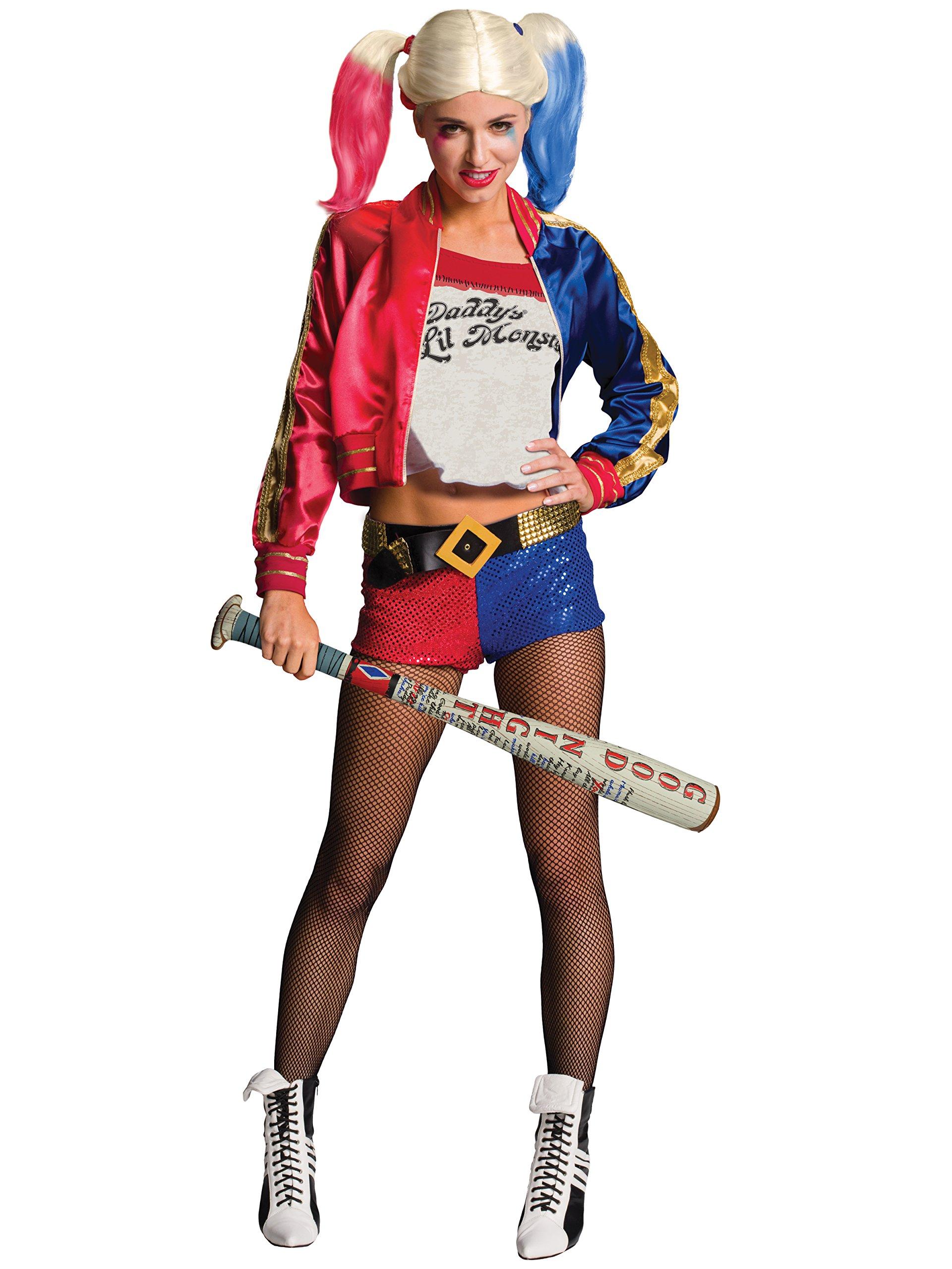 amscan Ladies Warner Bros Harley Quinn Fancy Dress Wig Accessory