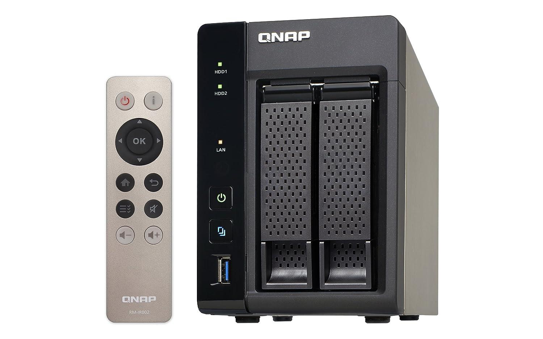 QNAP TS-253A Ethernet Torre Aluminio, Negro NAS - Unidad Raid (6 TB, Unidad de Disco Duro, Unidad de Disco Duro, SSD, Serial ATA III, 3000 GB, ...