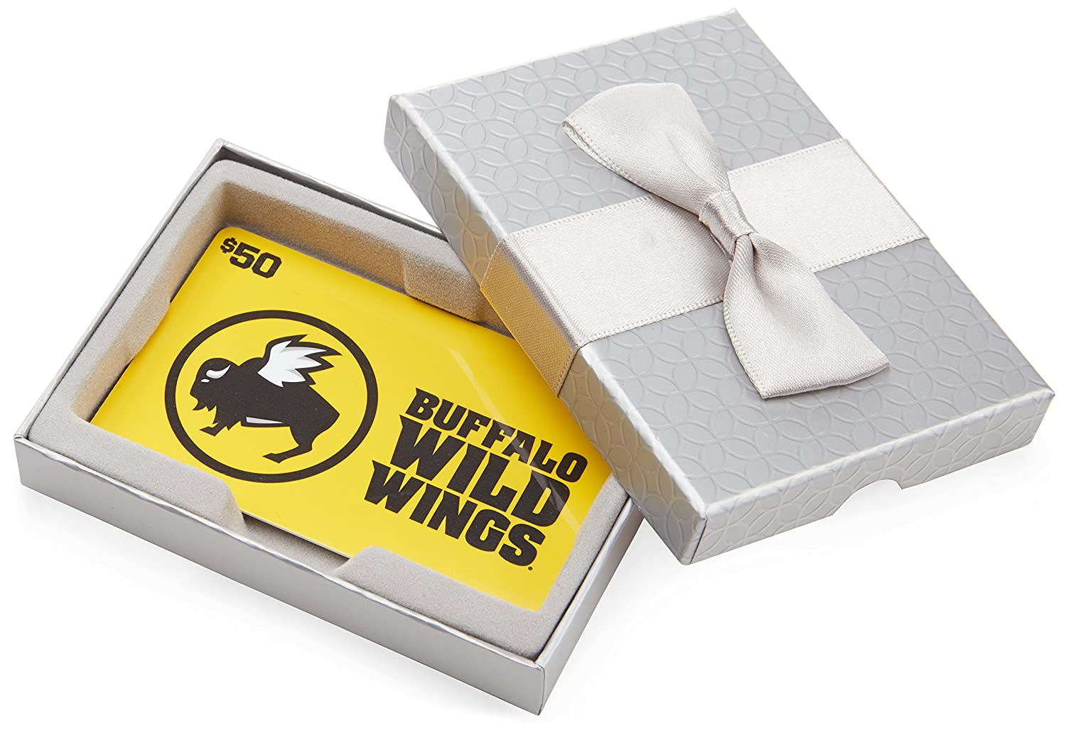 Amazon.com: Buffalo Wild Wings $50 Gift Card - In a Gift Box: Gift Cards