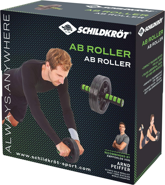 Schildkröt Dual Roller Fitness Kraftraining Bauchtraining Schaumstoffgriffe