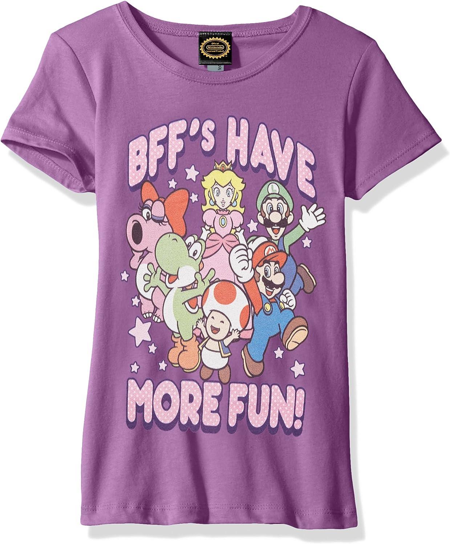 Nintendo Girls' More Fun Graphic T-shirt: Clothing