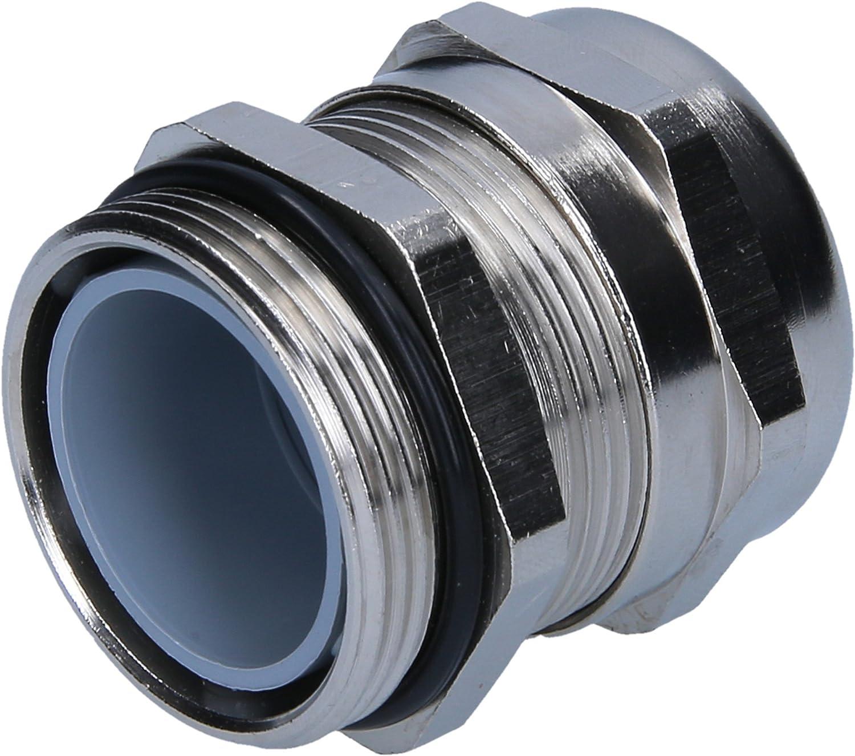10 St/ück Schlemmer 4220625 Kabelverschraubung M25x1,5 Messing