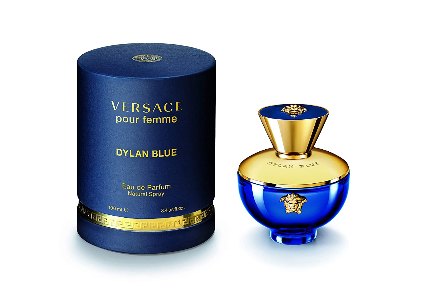 Amazon.com   Versace Dylan Blue Pour Femme Eau de Parfum Spray, 3.4 Fl Oz,  Pack of 1   Beauty 3de6aaa32d