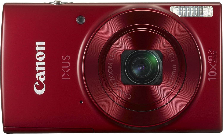 "Canon IXUS 180 - Cámara Digital compacta de 20 MP (Pantalla de 2,7"", Zoom óptico de 10x, NFC, WiFi), Color Rojo"
