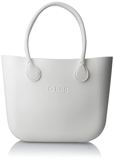 O Bag b001, bolso de mano para mujer, blanco, 14 x 31 x