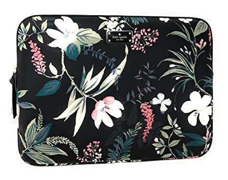 shop best sellers 100% satisfaction guarantee special promotion Kate Spade Wilson Rd Botanical Laptop Case Sleeve Black Multi 13