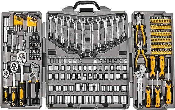 Tool Set Car Repair Kit Case Home Mechanics Tools Piece Box Garage Auto Pcs New