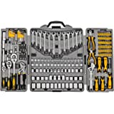 205 Piece Mechanics Tool Set, Socket Wrench Auto Repair Tool Pliers Combination Mixed Hand Tool Set Kit with Box…