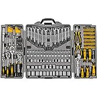 $89 » 205 Piece Mechanics Tool Set, Socket Wrench Auto Repair Tool Pliers Combination Mixed Hand Tool…