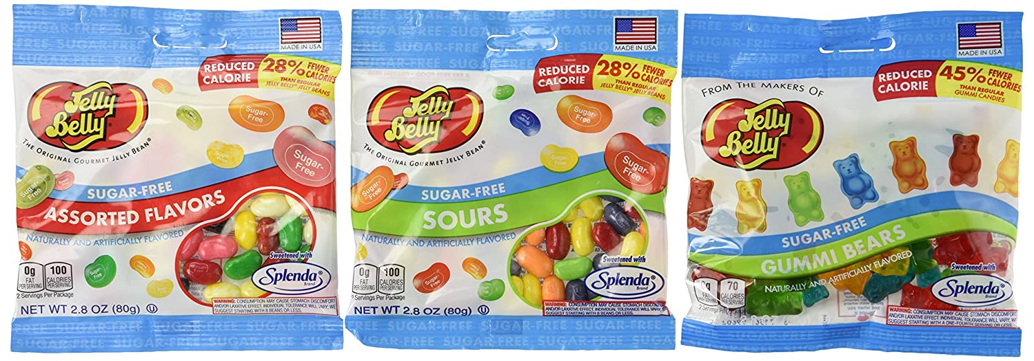 Haribo gummy bears are just one of many products that thomas - Amazon Com Jelly Belly Sugar Free 3 Packs Of Jelly Beans And Gummi Bears Grocery Gourmet Food