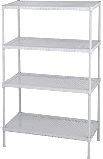 Muscle Rack PWS241235 4W Steel Wire Shelving, 4 Adjustable Shelves, 110 Lb  Per