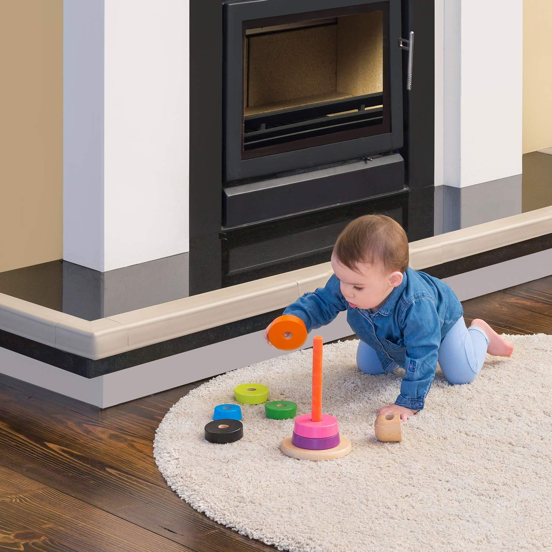Clevamama 3052 Baby Schaumstoff Kamin Kantenschutz Set 7-Teilig 500 g beige