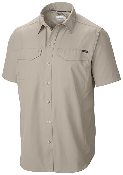 Columbia Men's Silver Ridge Short Sleeve Shirt, Small, Fossil