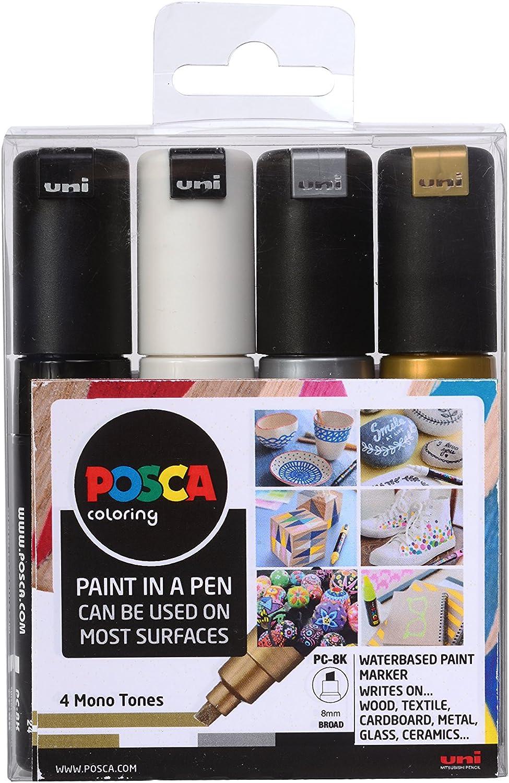 Posca 153544853 - Pack de 4 rotuladores de pintura al agua ...