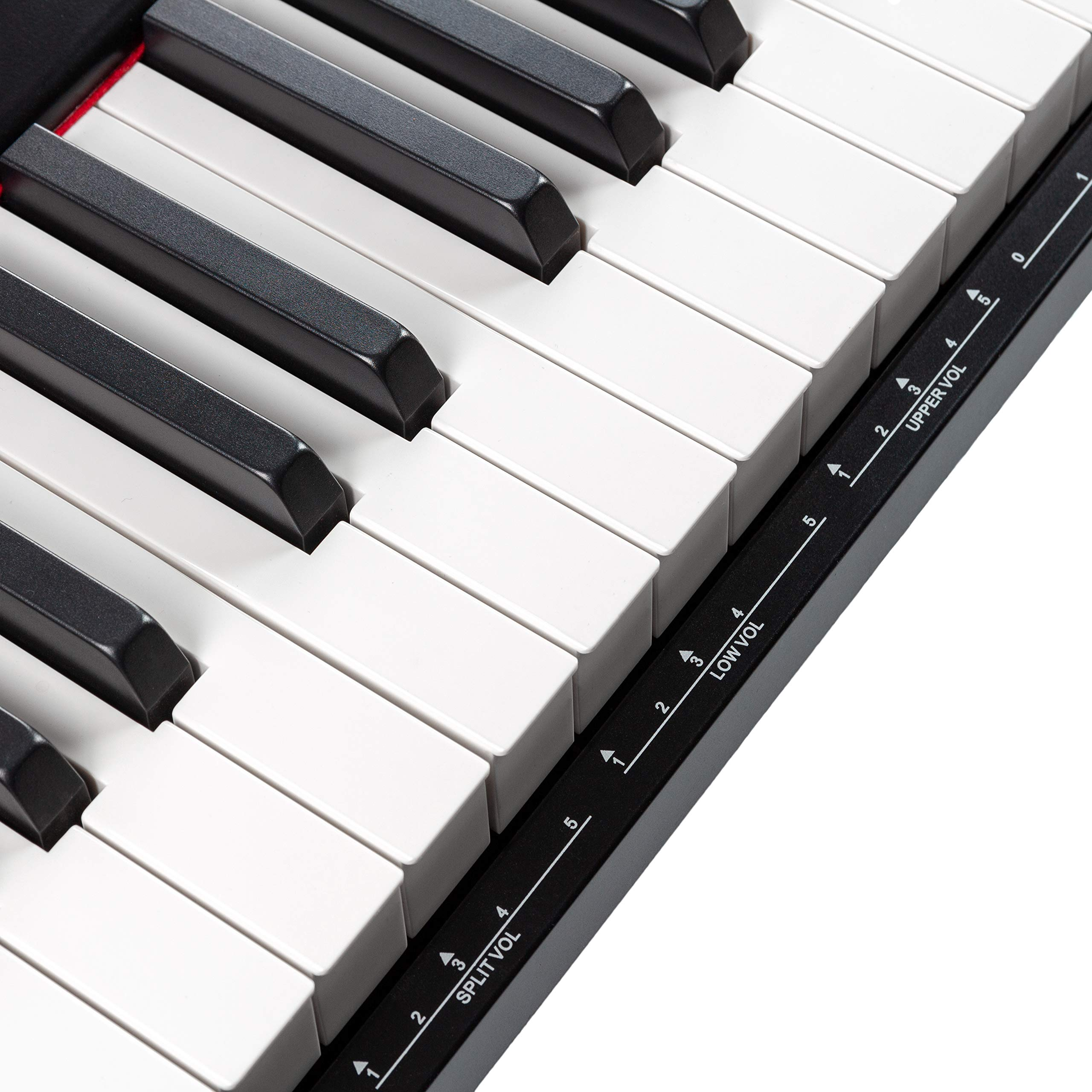 RockJam 88-Key Beginner Digital Piano with Full-Size Semi-Weighted Keys, Power Supply, Simply Piano App Content & Key Note Stickers by RockJam (Image #6)