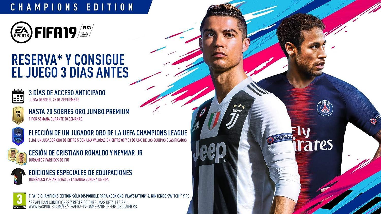 FIFA 19 Edición Champions  PlayStation 4  Amazon.es  Videojuegos 91d25cbd29439