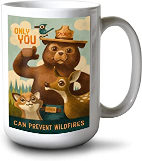 product image for Lantern Press Smokey Bear - Only You - Oil Painting (15oz White Ceramic Mug)