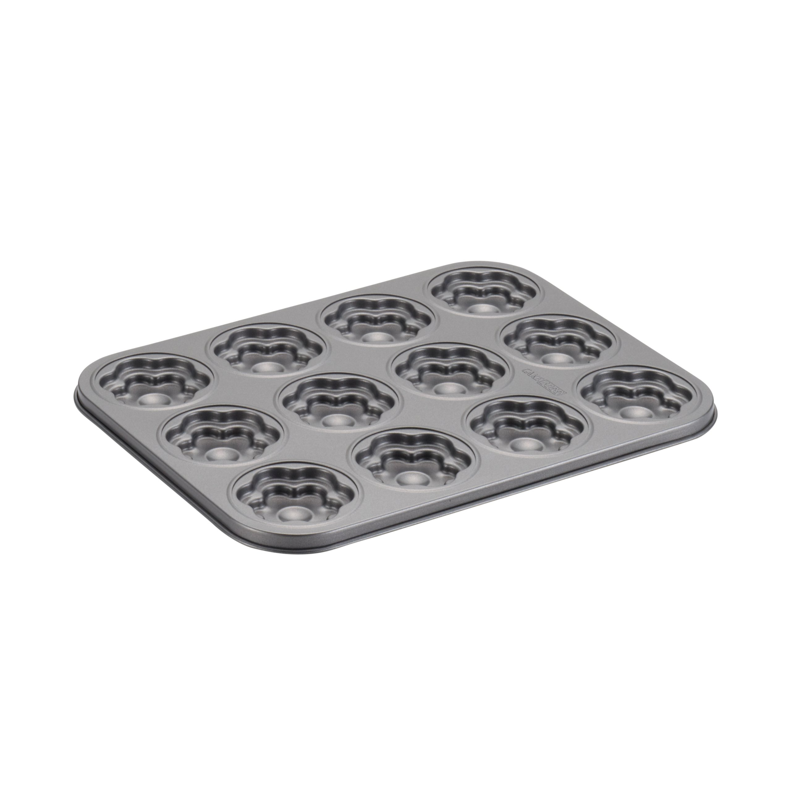 Cake Boss Carbon Steel 12 Cup Moulded Cookie Pan Groovy Girl/ Flower