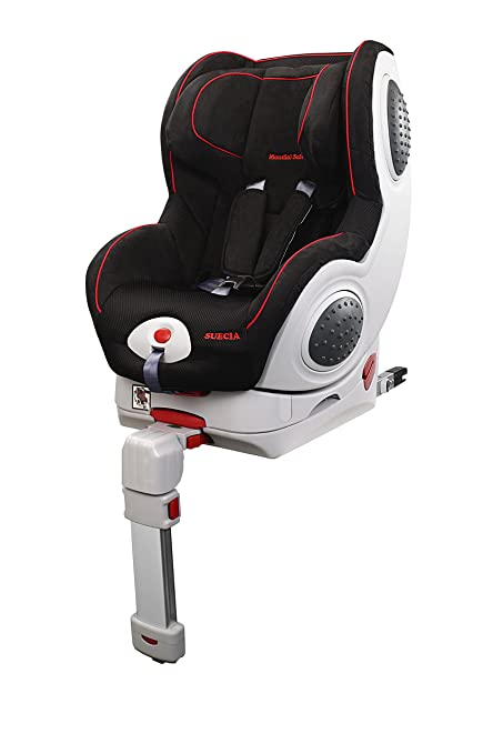 Mondial Safe Suecia 1 KS18 - Silla de bebé para automóvil, color negro con ribete rojo