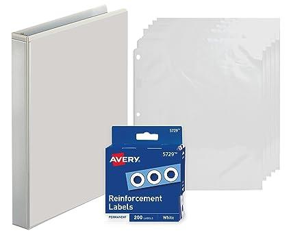 amazon com 3 ring binder 1 inch presentation view binder with