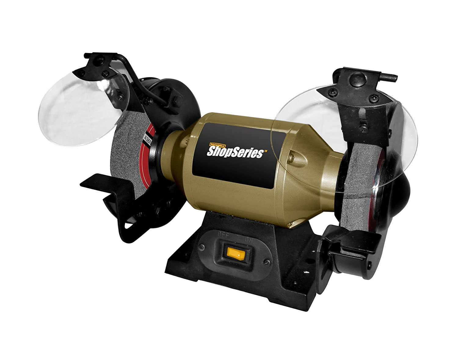 Ordinary 6 Variable Speed Bench Grinder Part - 14: Rockwell ShopSeries RK7867 6-Inch Bench Grinder - Power Bench Grinders -  Amazon.com