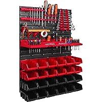 Botle Wandrek voor de garage, met gereedschapshouders en stapelbare open opbergbakken, kunststof, 576 x 780 mm