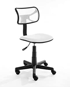 Urban Shop Swivel Mesh Task Chair, White