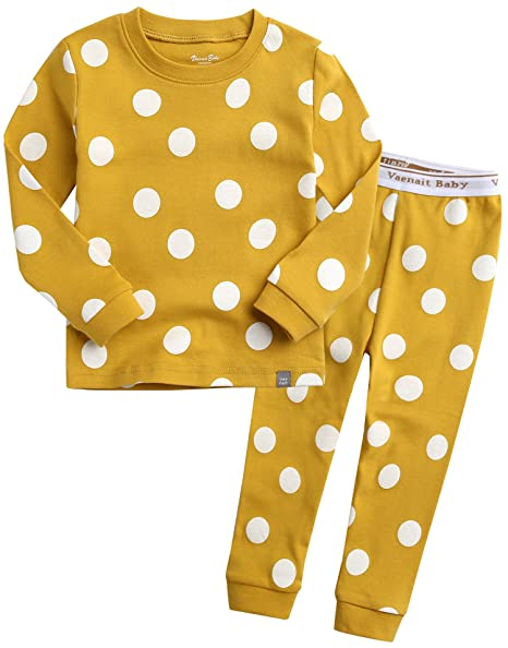Vaenait Baby Kids Toddler Little Boys Girls Unisex 100 Percents Cotton Sleepwear Pajamas Pjs 2pcs Set by Vaenait Baby