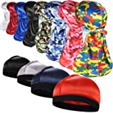 ROYBENS 3PCS Silky Durags Pack for Men Waves, Satin Doo Rag, Award 1 Wave Cap