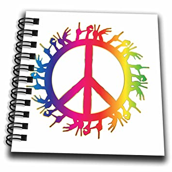 Amazon 3drose Sven Herkenrath Symbol Rainbow Color Peace Love