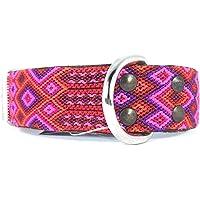 M Collar artesanal mediano grueso para perro, hecho en Chiapas, México