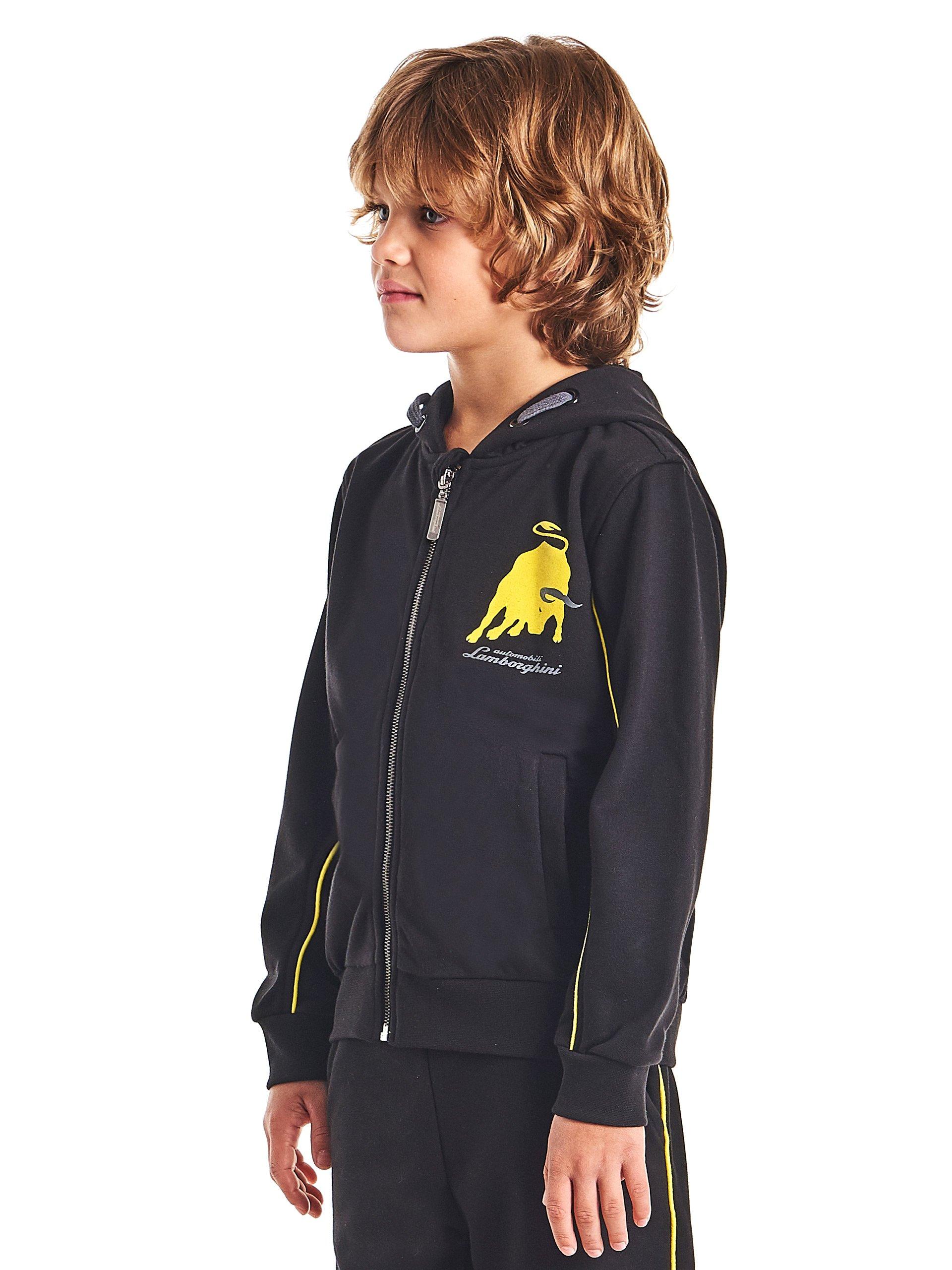 Automobili Lamborghini Children Lamborghini Big-Bull Hooded Sweatshirt for Kids 4 Years Black by Automobili Lamborghini (Image #2)