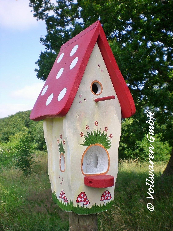 Original Die Vogelvilla, Minivilla Spezial Waldhaus, Vogelhaus & Nistkasten, 2in1