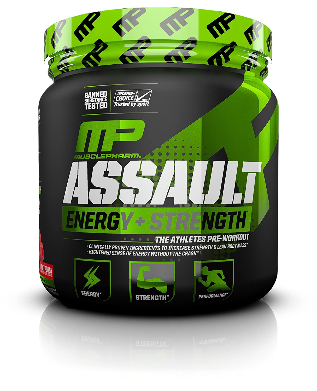 MusclePharm Assault Sport Nutrition Powder, Fruit Punch, 30 Servings