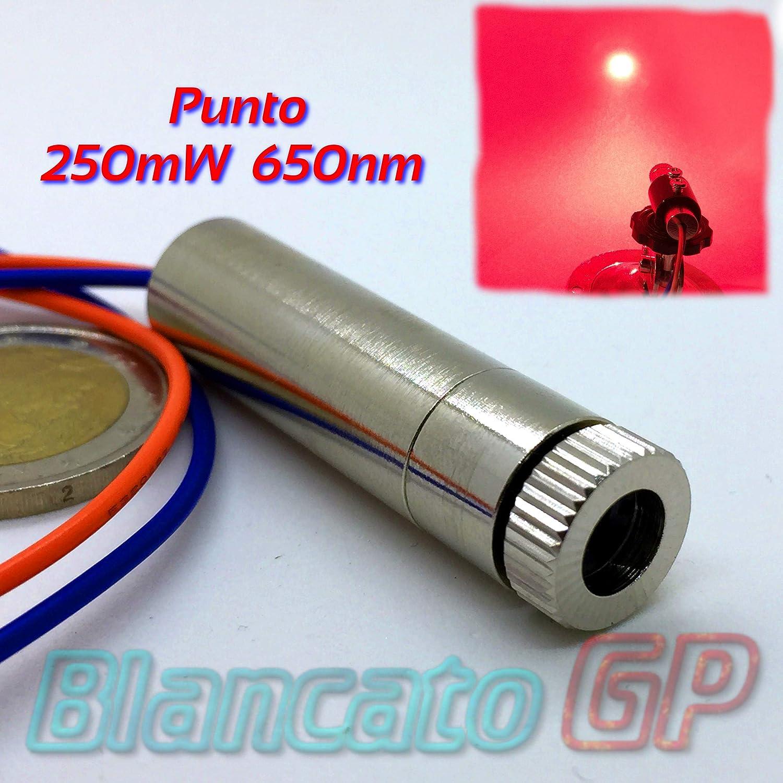 Module laser 250mW 650nm point rouge feu réglable Module Industrial Grade BlancatoGP