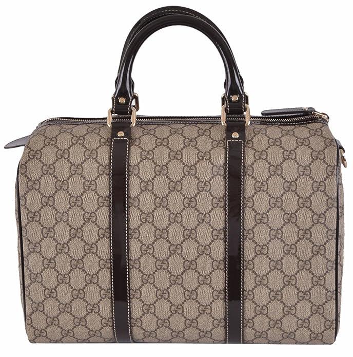 c2e4e7acba4353 Amazon.com: Gucci Women's Beige Brown GG Supreme Canvas Boston Purse  Satchel: Shoes