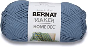 Bernat Maker Home Dec Yarn, 8.8oz, Guage 5 Bulky Chunky, Steel Blue