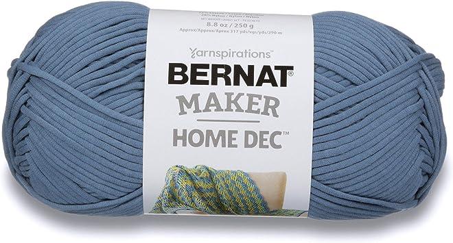 Black Guage 5 Bulky Chunky Bernat Maker Home Dec Yarn 8.8oz