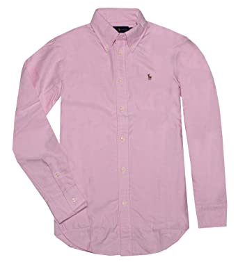 Ralph Lauren Down Oxford Shirt Womens Button Classic Fit bvIYf6gy7