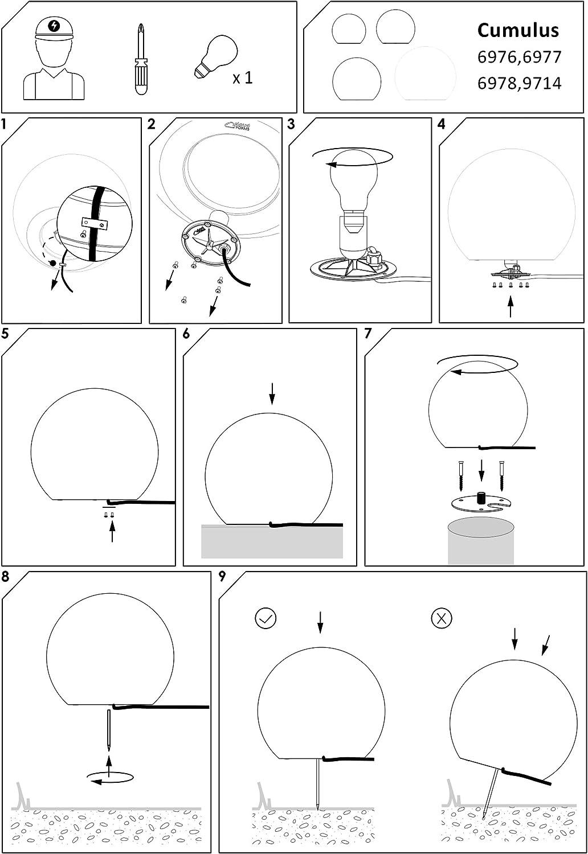 Kugelleuchte Kugellampe aussen garten Leuchtkugel Gartenlampe 30, 45, 60 cm Lichtkugel (Ø 45 cm) Ø 30 Cm